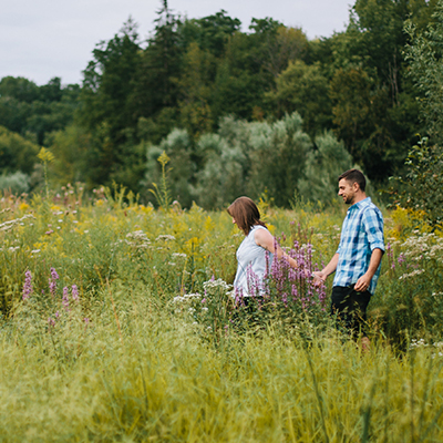 Dan & Sarah Engaged! Hamilton Ontario Outdoor Engagement Photography